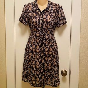Cherry blossom flowery casual dress  Tweeds